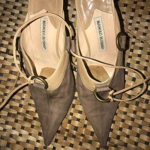 Shoes - Manolo Blahnik women slip on stiletto high heel 41